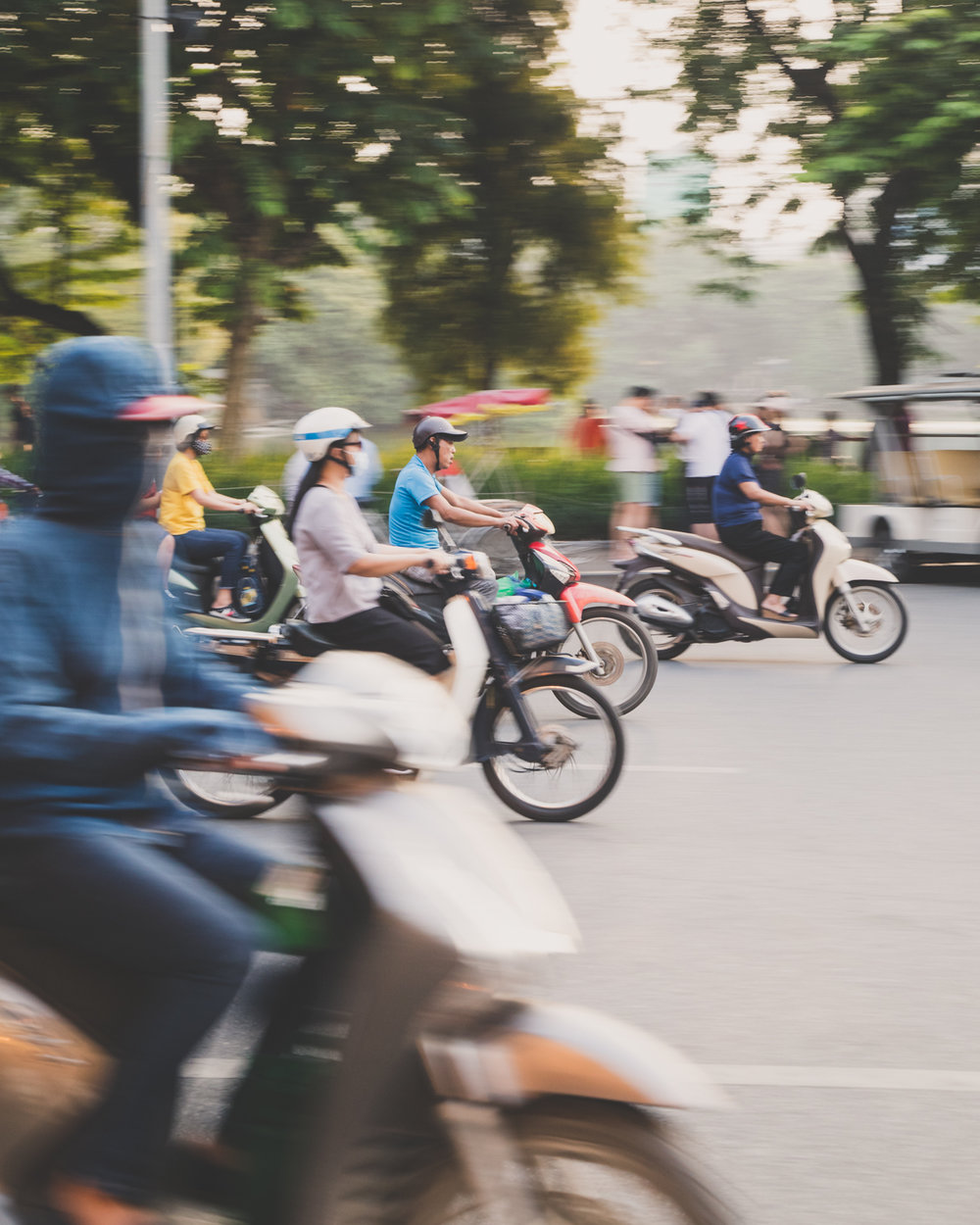Just some of the millions of motorbikes in Vietnam