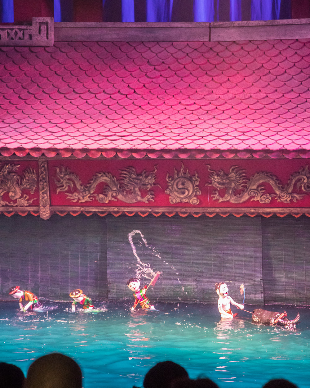 The water puppets - a surprisingly fun thing to do in Hanoi.