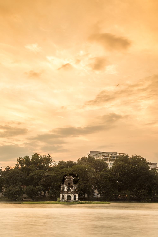 Thap Rua at sunset.