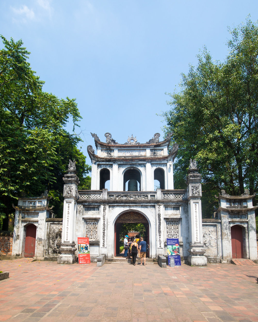 The Temple of Literature in Hanoi