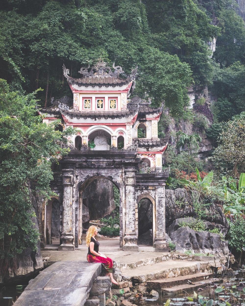 The entrance to Bich Dong Pagoda in Ninh Binh