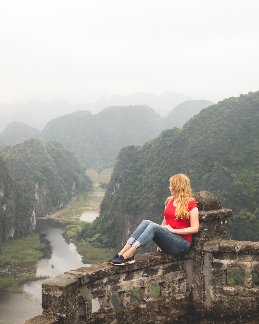 The views of Ninh Binh from Mua Caves