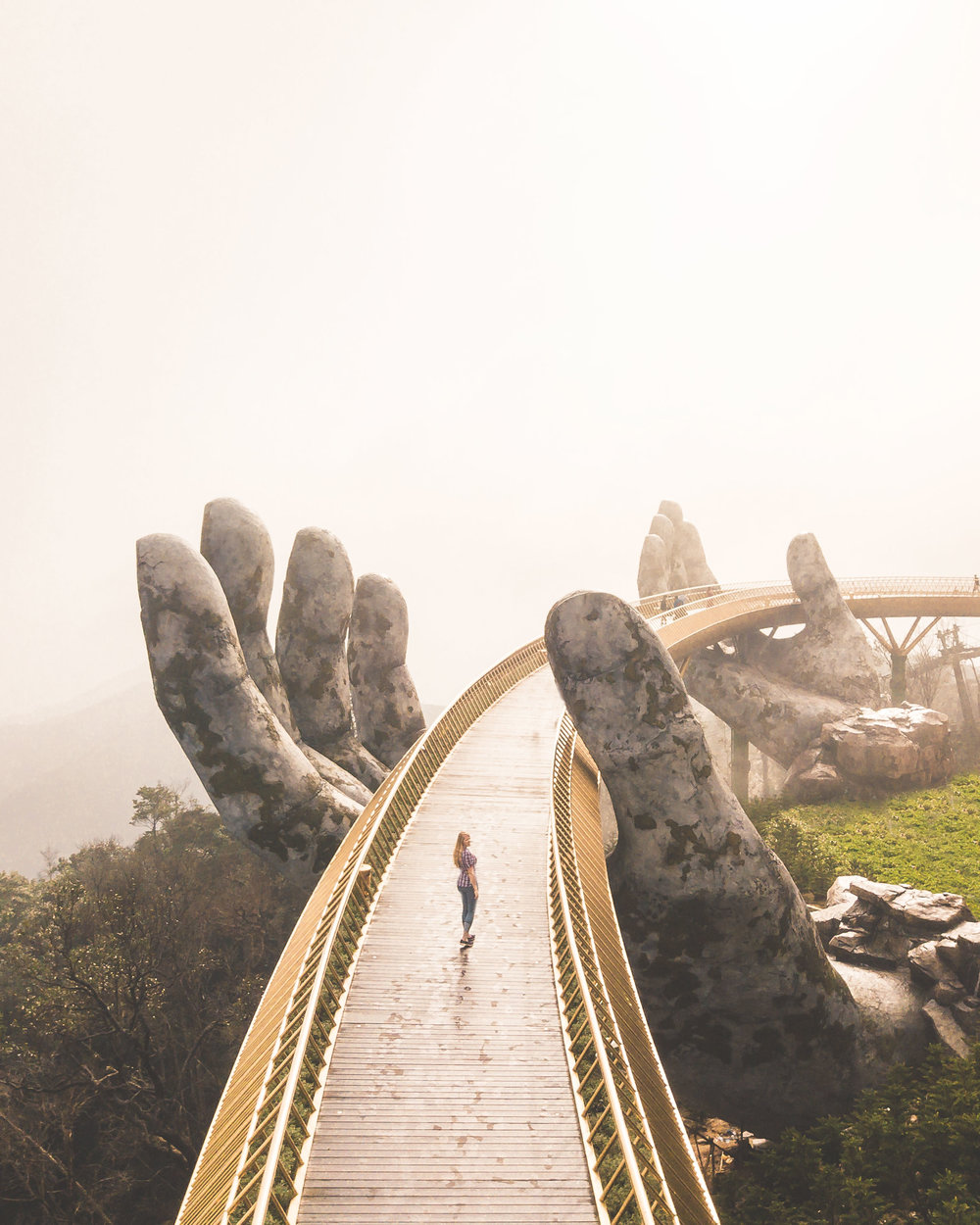Golden Hand Bridge in the nearby Ba Na Hills