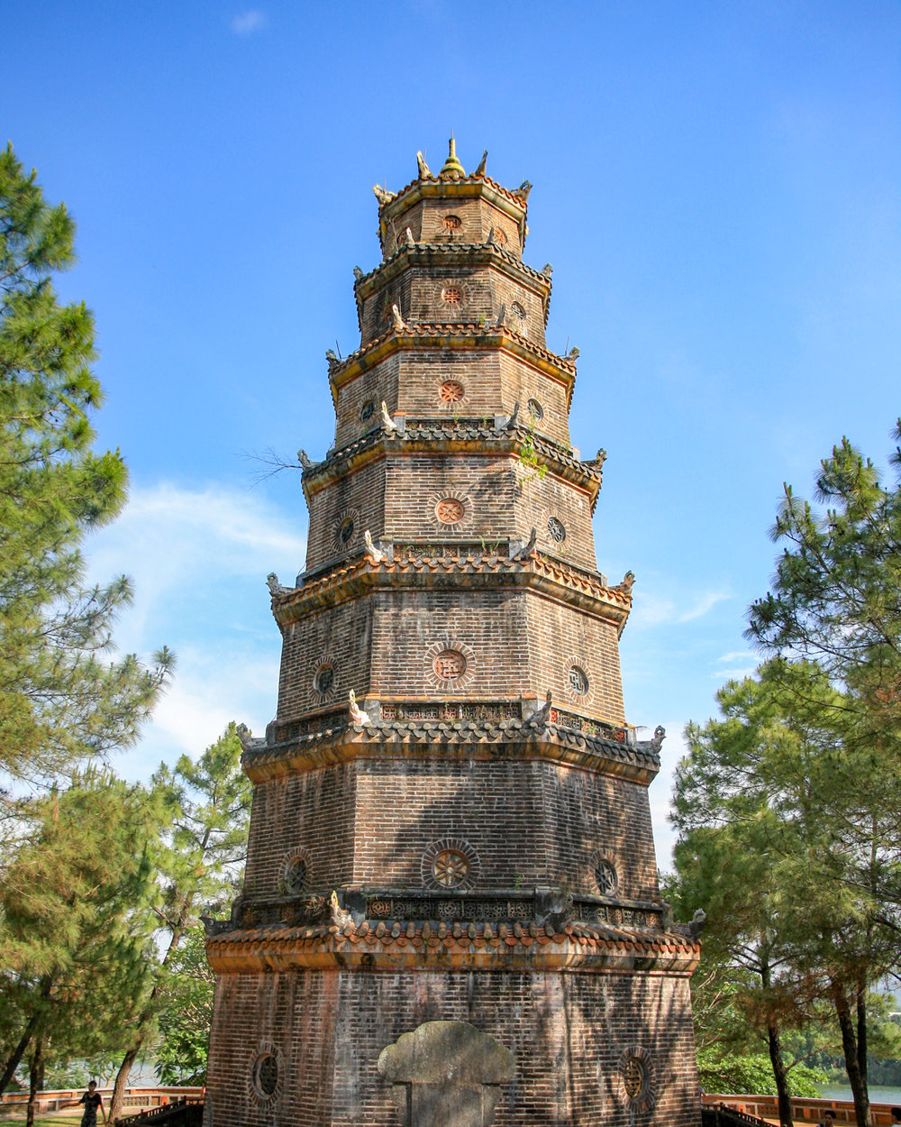 The picturesque Thien Mu Pagoda in Hue