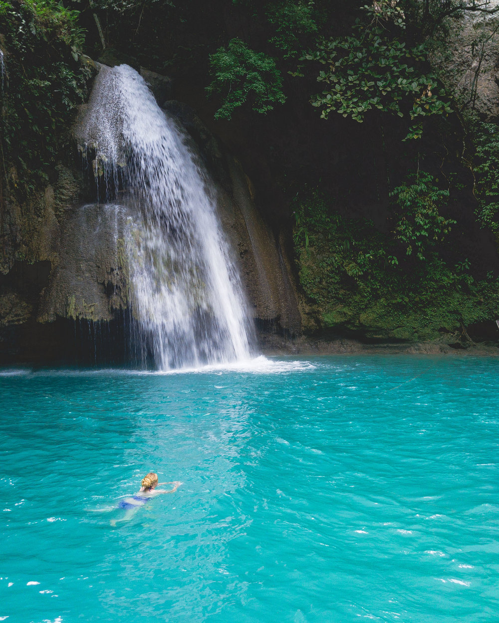 The beautiful Kawasan Falls in Cebu