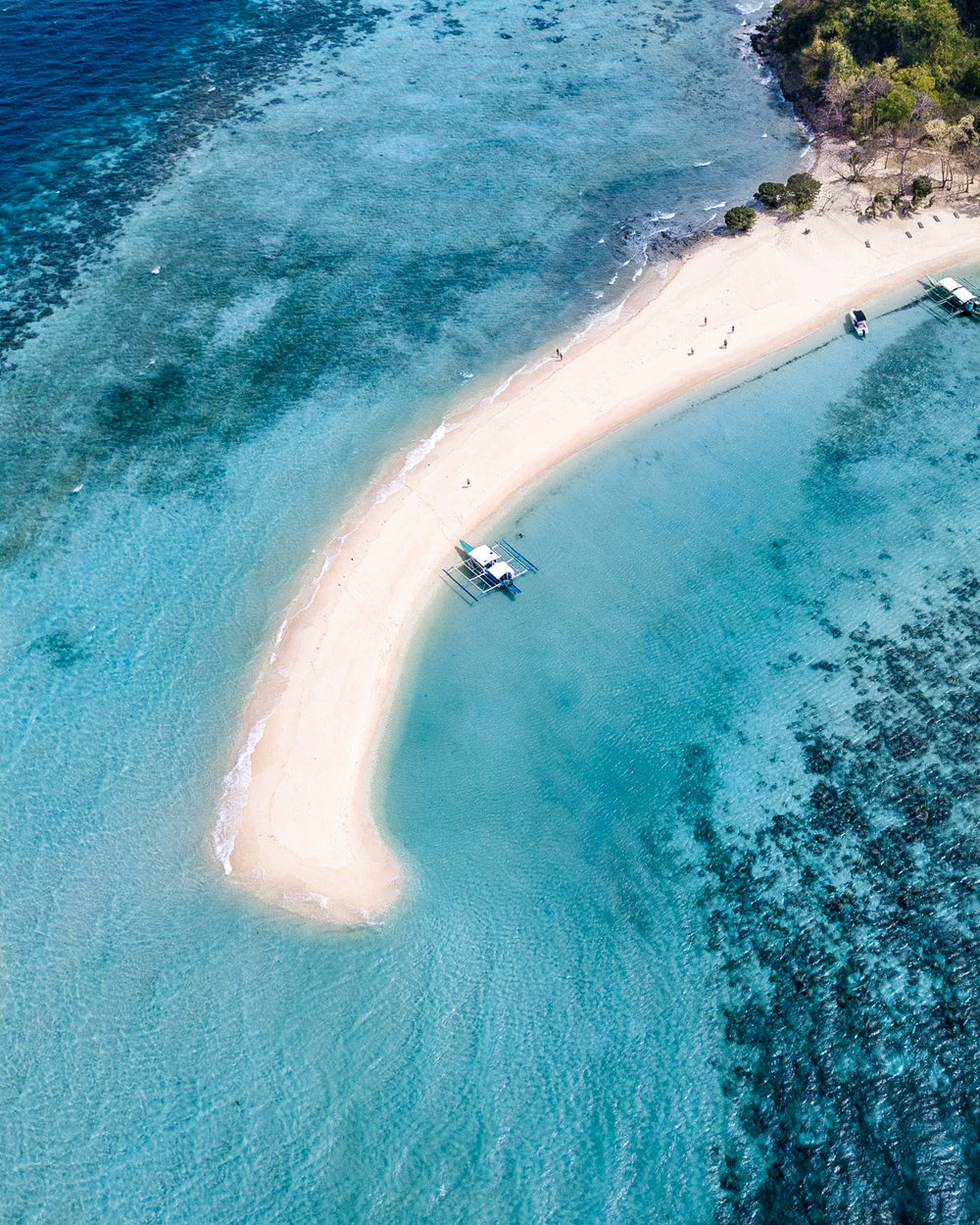 The epic sandbar at Ditaytayan Island