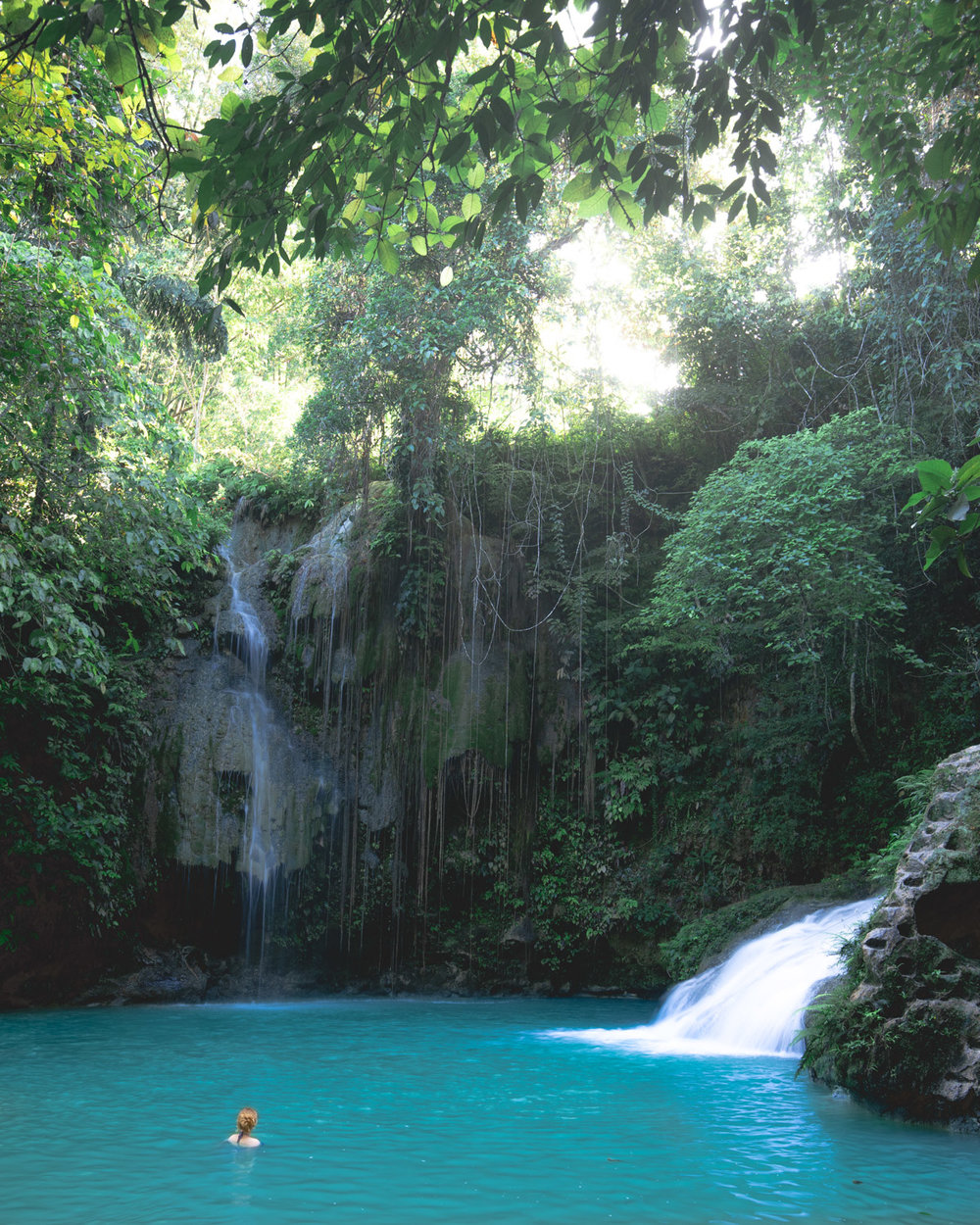 The perfect jungle pool at Cambais Falls