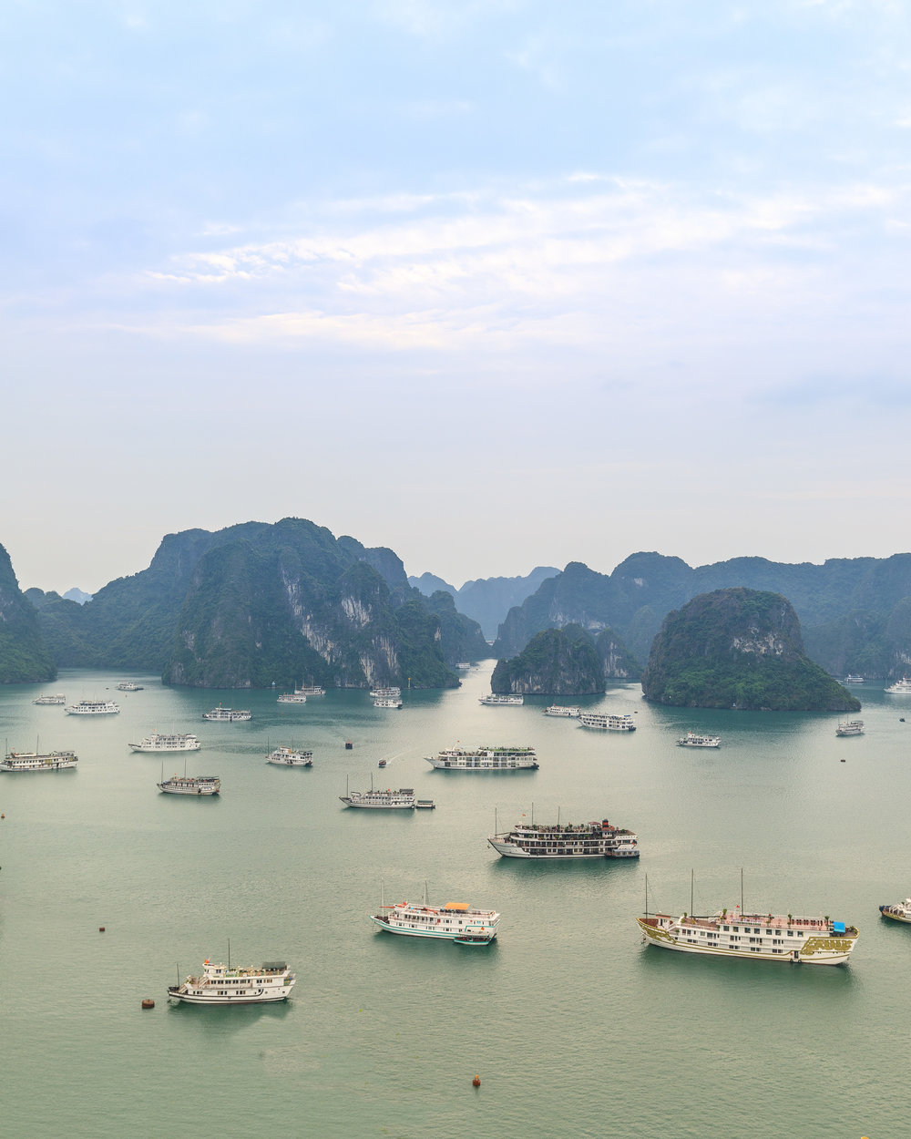 The views of Halong Bay from Ti Top Island - it is a pretty busy place