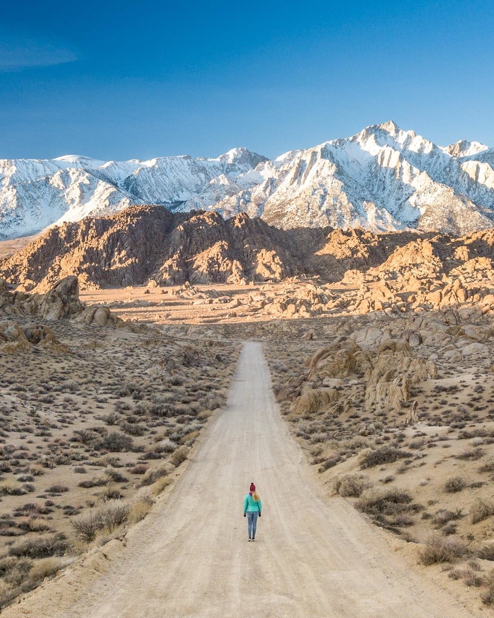 The most famous viewpoint on Movie Road, Alabama Hills