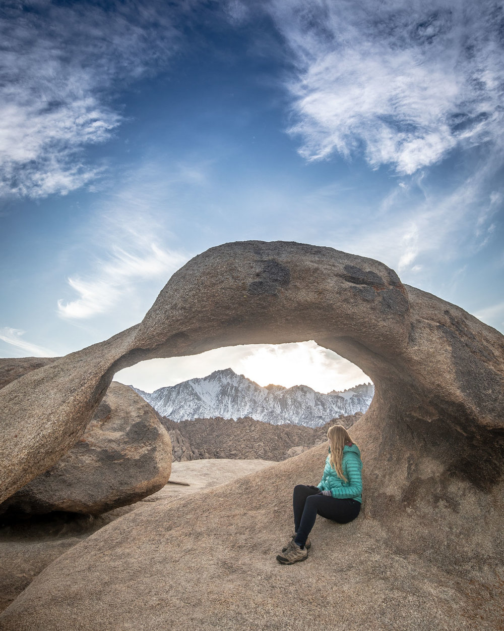 Sunset at Mobius Arch