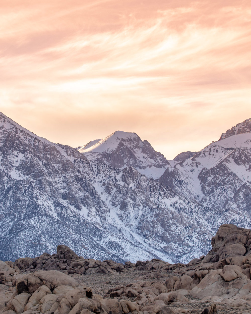 One of the Sierra Mountains at sunset