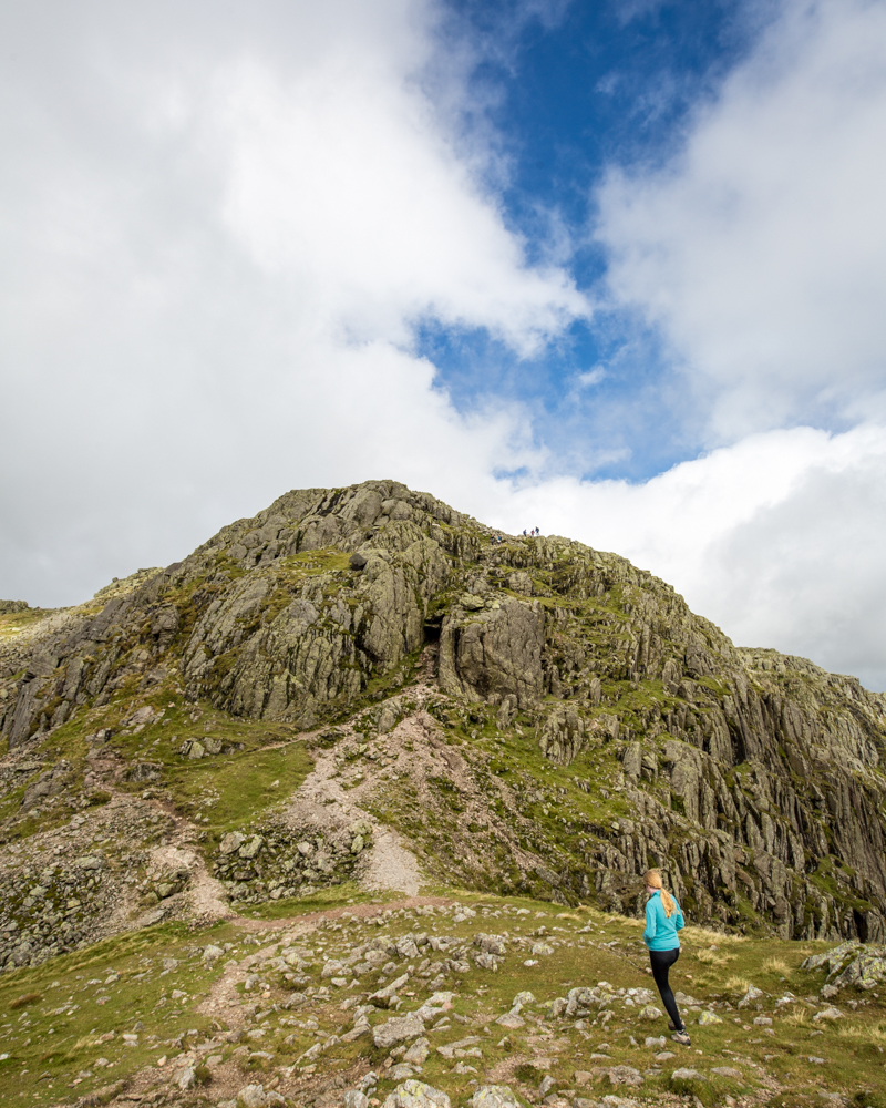 Hiking over the Crinkle Crags