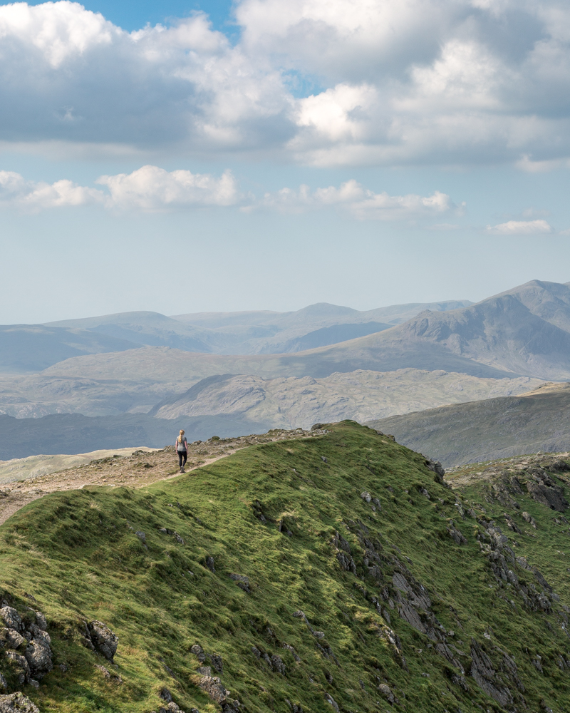The ridge at the top of Coniston Old Man