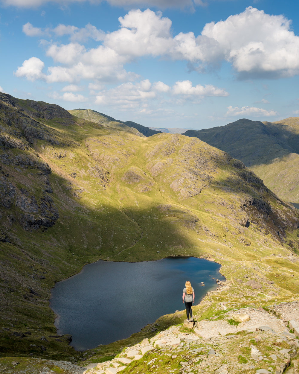 One of the tarns on the Old Man of Coniston