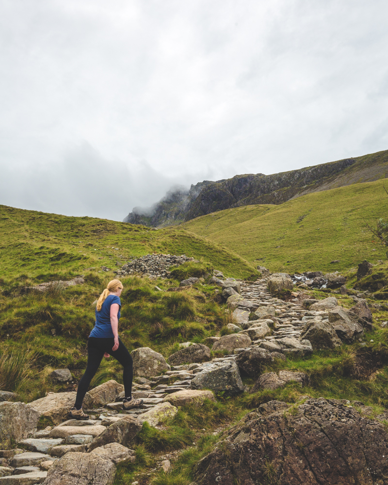 The hike up Scafell Pike