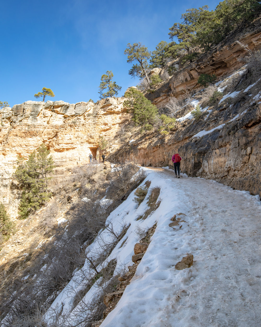 The start of the Bright Angel Trail