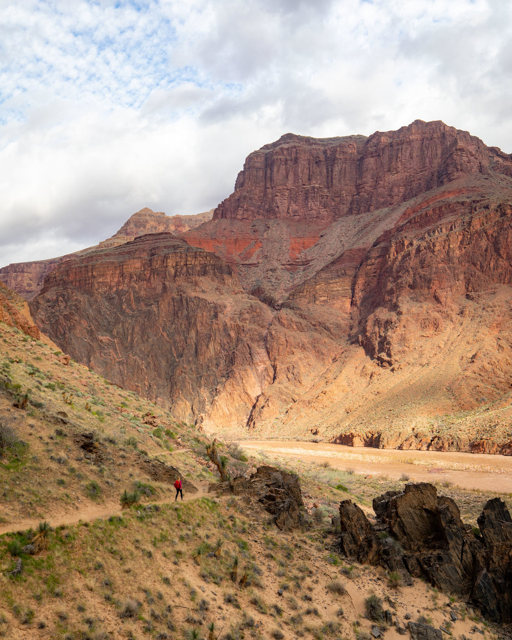 The riverside section of the Bright Angel Trail