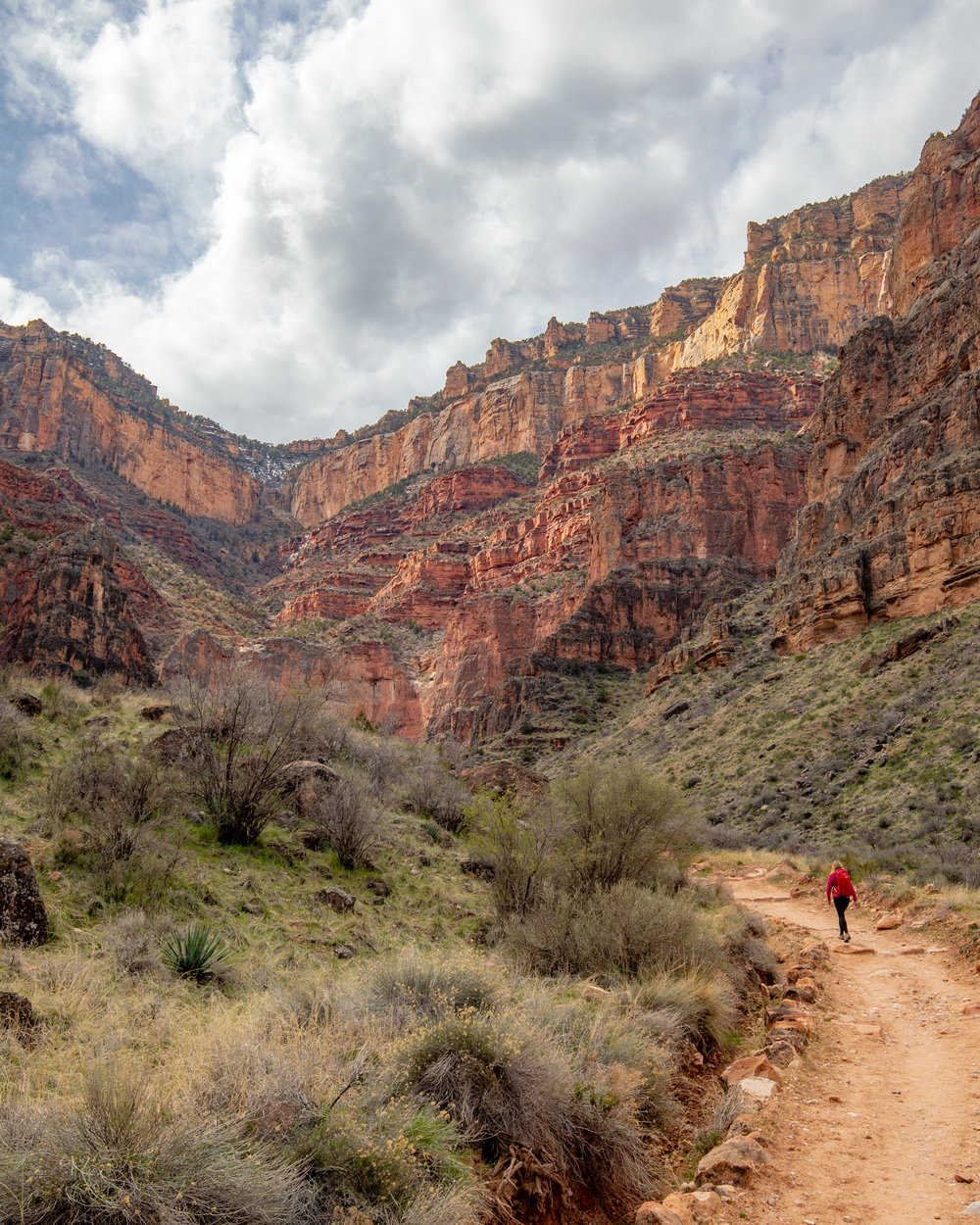The path to the switchbacks on the Bright Angel Trail