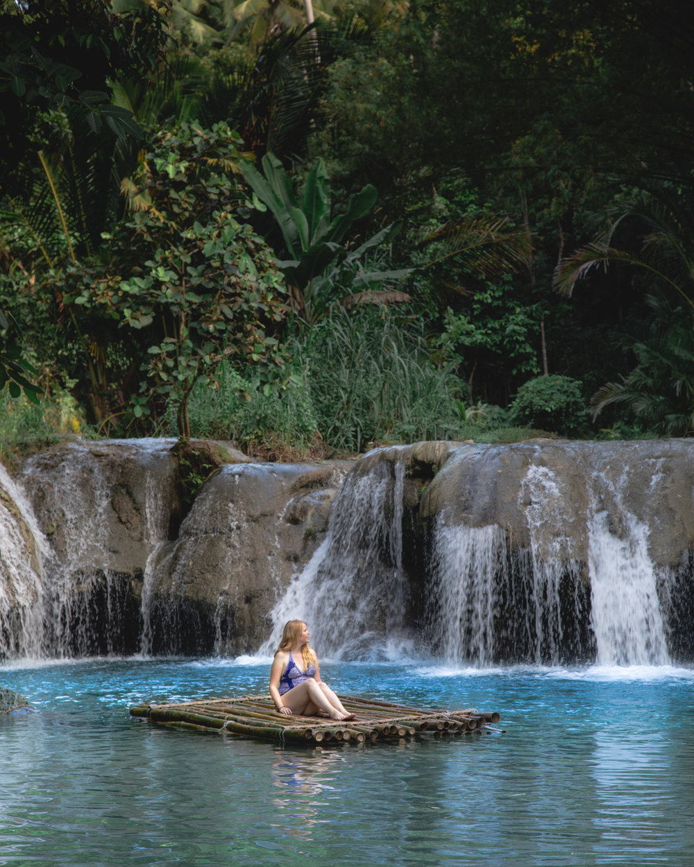 The top pool at Cambugahay Falls