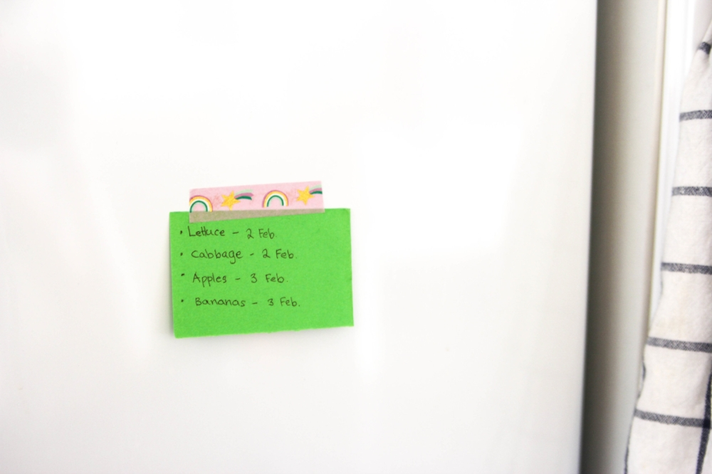 Tip: write down the best before dates on a note and stick it to your fridge!