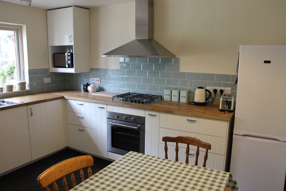 Fully equipped communal kitchen