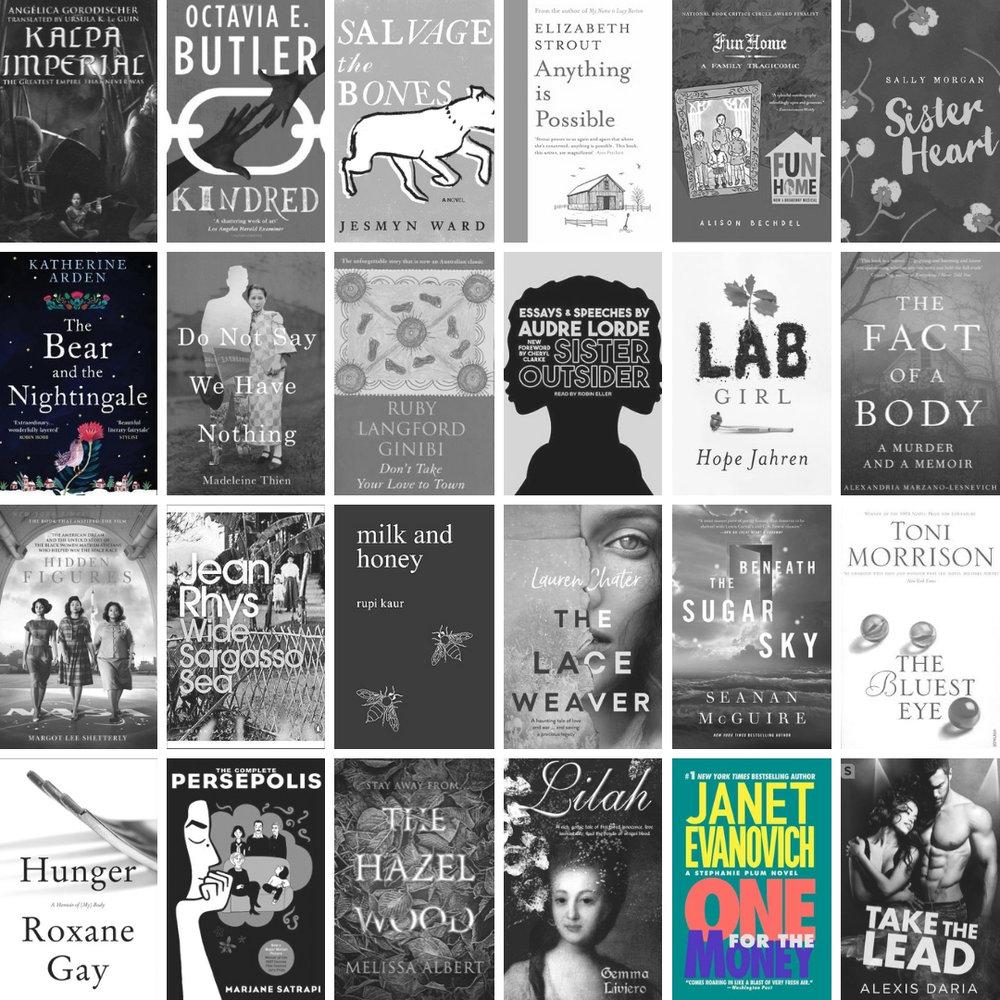 Books I read for Reading Women 2018