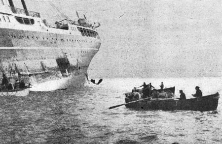 Sinking of the Terukuni Maru - On November 21st, 1939, the Japanese passenger ship Terukuni Maru, built in 1929 by Mitsubishi Shipyard and owned at the time of her loss by Nippon Yusen Kaisha, was sunk by a mine at the mouth of the Thames. The ship was on her way from Yokohama via Casablanca to London. The British and the Germans accused each other of having laid the mine and it has never been clear who was responsible. Her sinking has been described as Japan's only World War II casualty outside East Asia before the 1941 attack on Pearl Harbour. After the war, the wreck was cleared with explosives.