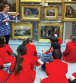 Children discovering the Old Masters on school visit