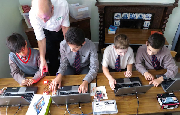 Weekly Coding Club: tech culture is alive at Sompting Abbotts. Children in the main school learning how to programme using Arduino code micro-controllers