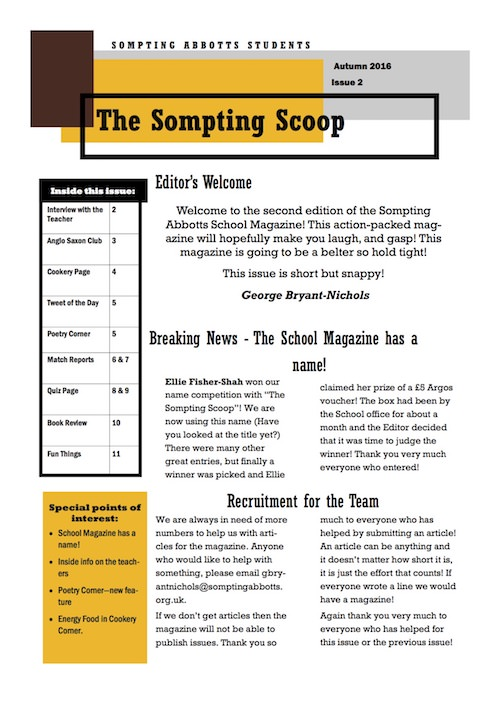 Sompting Scoop - Autumn 2016