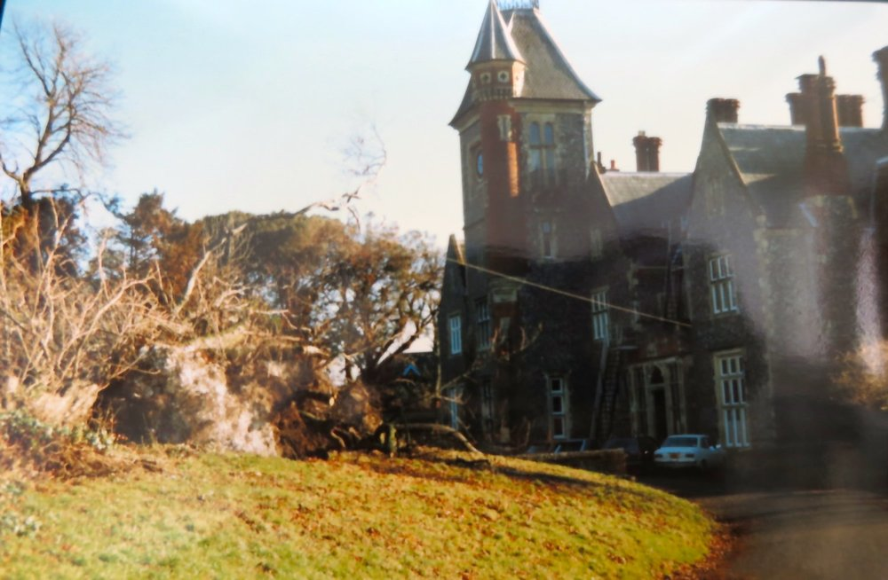 The school the morning after the Great Storm of 1987