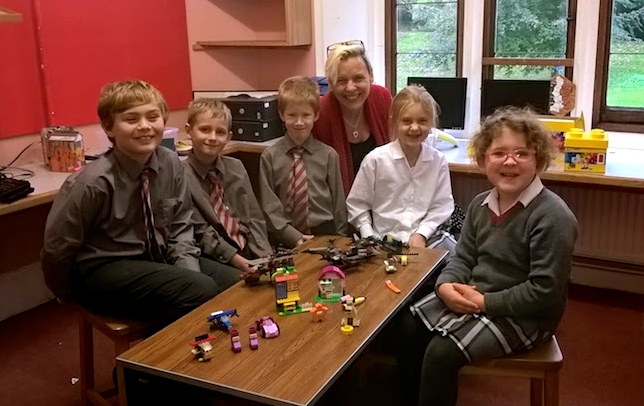The weekly Lego Club led by our Master Builder