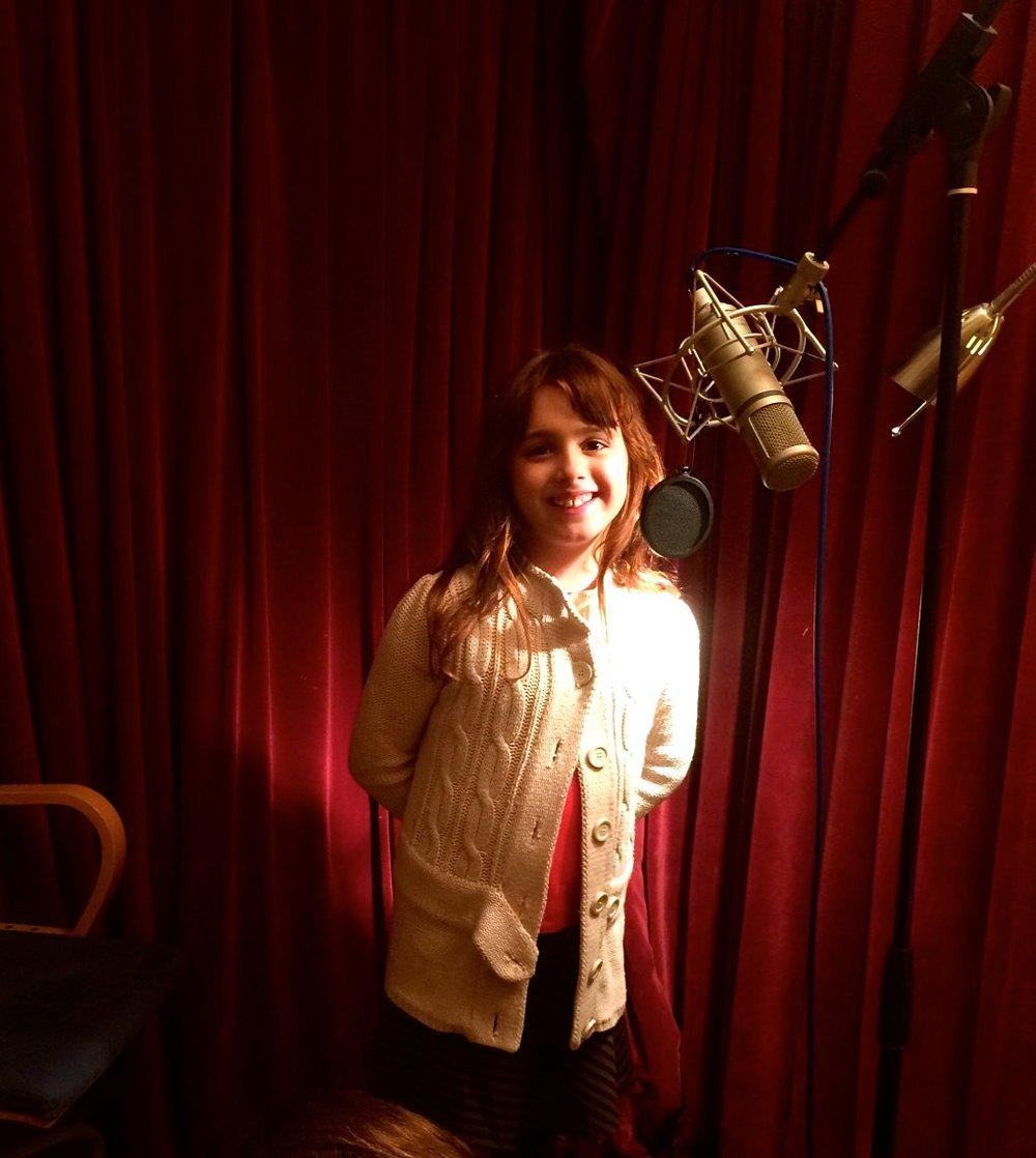 Veronica recording an Olobob Top programme