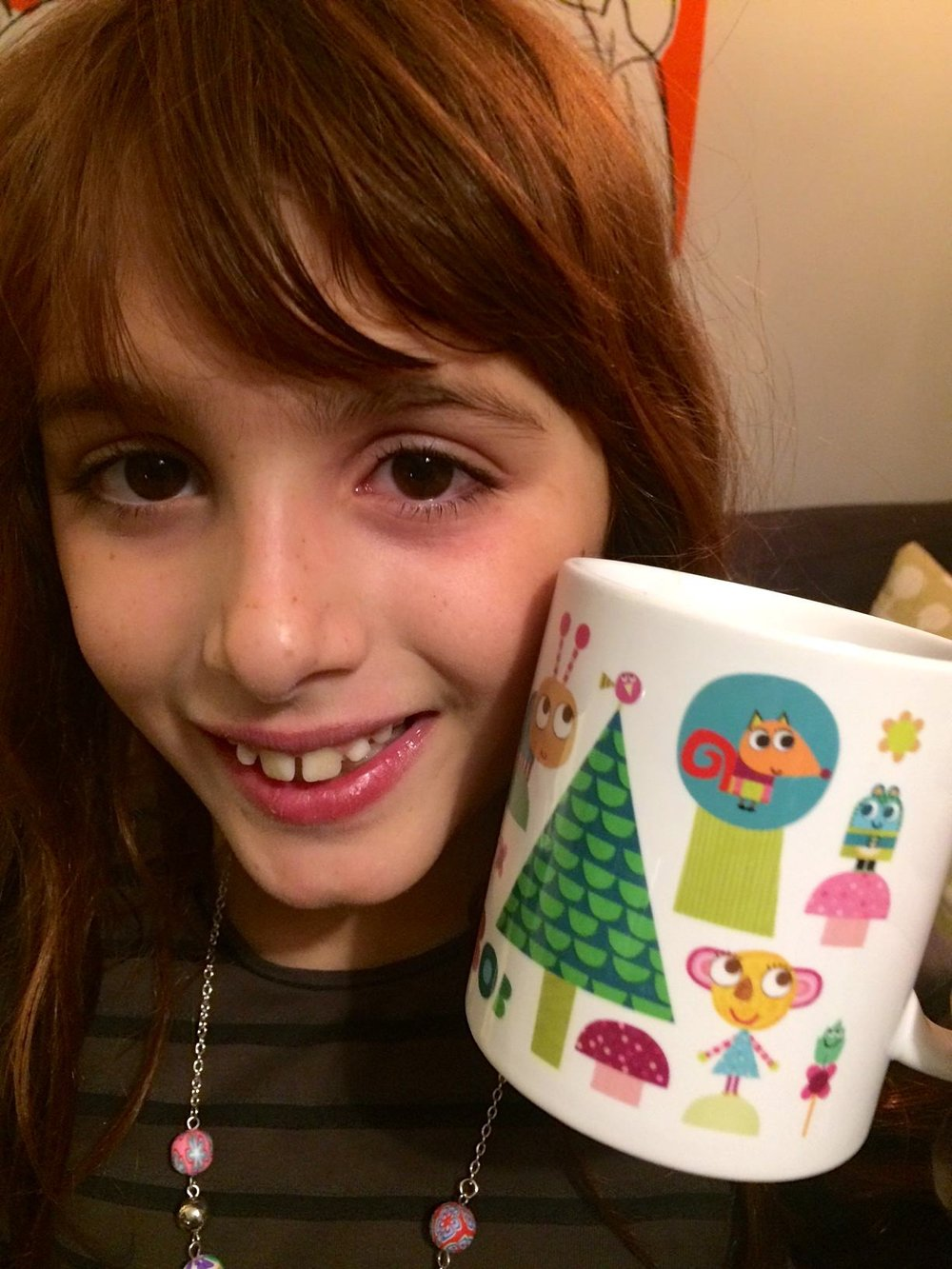 voice over actor veronica painter with cbeebies olobob top mug