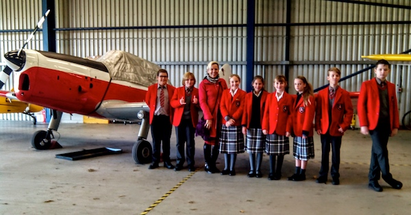 "Maths in action - What use is learning maths in life? Head of Maths Ms Farley found a good answer to a question she's always asked! She organised a visit to Shoreham Airport as a maths education trip.She said: ""The airport offers a tour run by volunteers which is fabulous so we combined the two aspects. The tour guide, Steve, gave us history of the airport and planes and also extensive insight and knowledge about all aspects of the planes, helicopters and overall running of the airport.""The children were lucky to have a BA pilot, Mr Gibbs, arrange his time to accompany them. Said Ms Farley:"