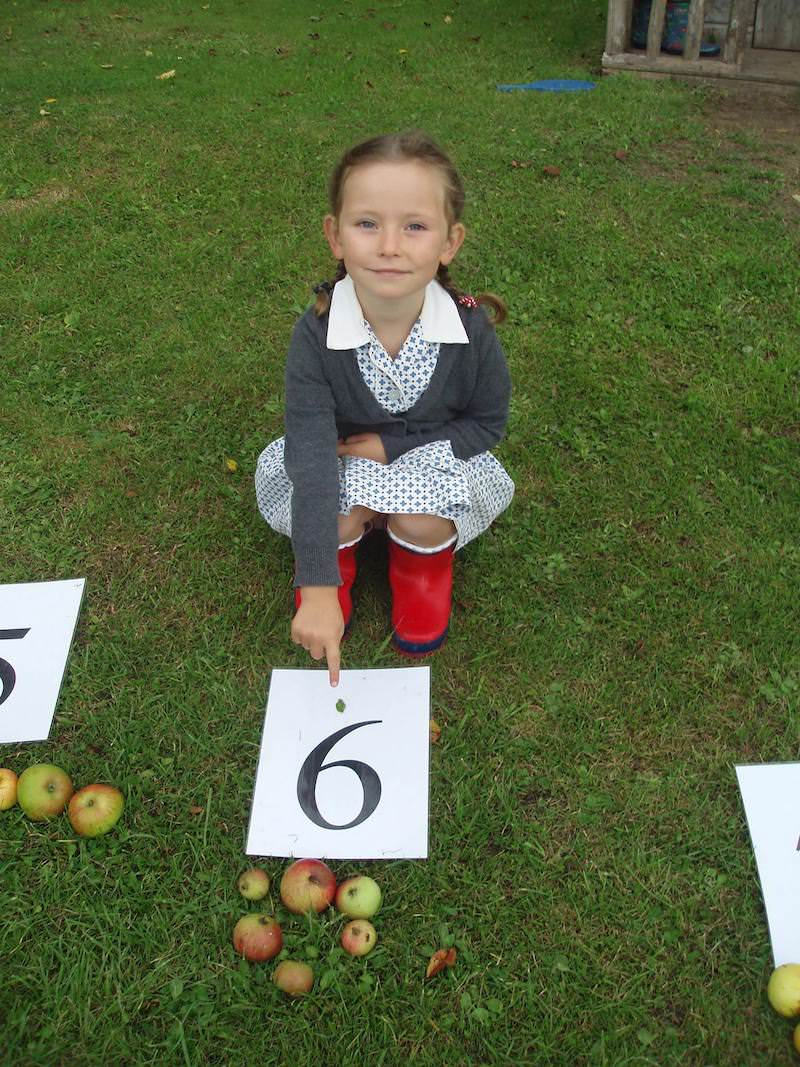 learning to count with windfall apples at private worthing school sompting abbotts