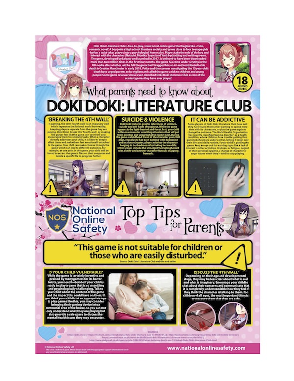 What Parents Need to Know About Doki Doki Literature Club