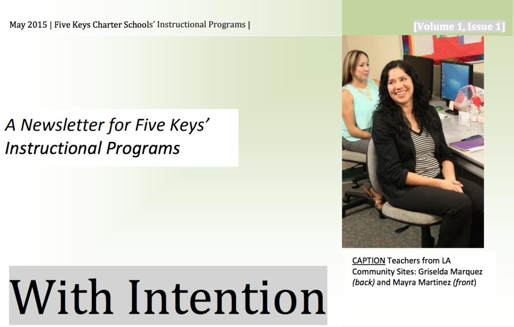 New Five Keys Instructional Programs... -