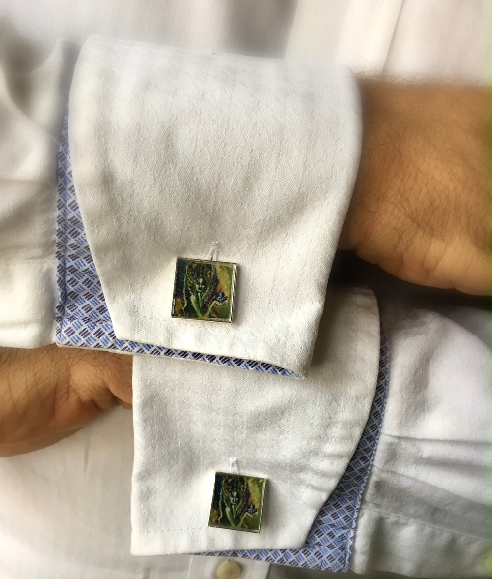 Classy Cufflinks for the man that Loves  - Stand out from the crowd