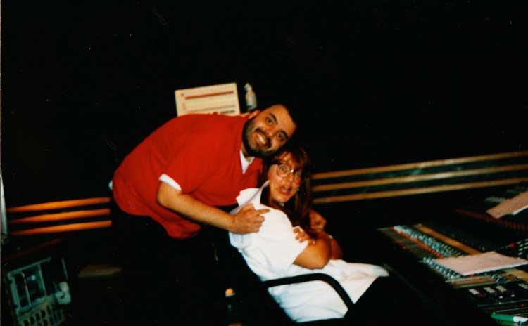 Sarah and I at Studio 3, Battery