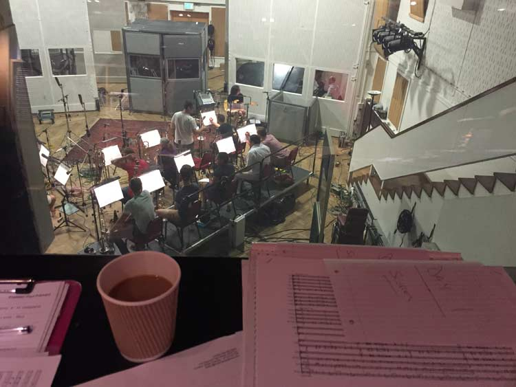 Studio 2 control room (Brave recording)