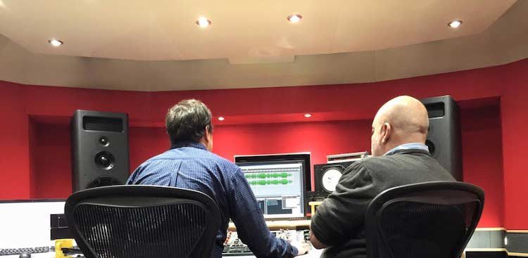 Alex Wharton and me mastering Biao's CD