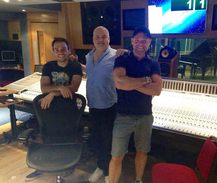 Stefano, Dave Fernandez and I recording for Deconstructed Volume One in Studio 3