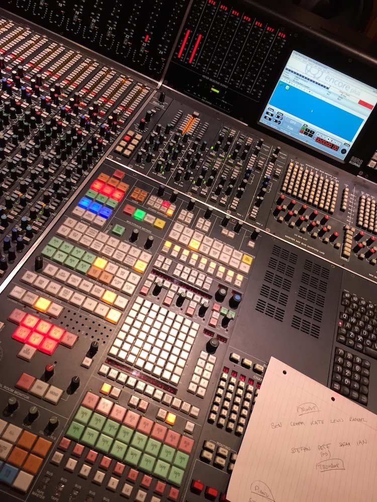 Studio 2 control room desk