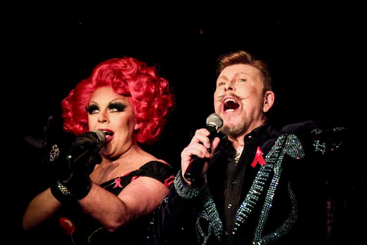 La Voix and James Biddlecombe cohosts at the RVT