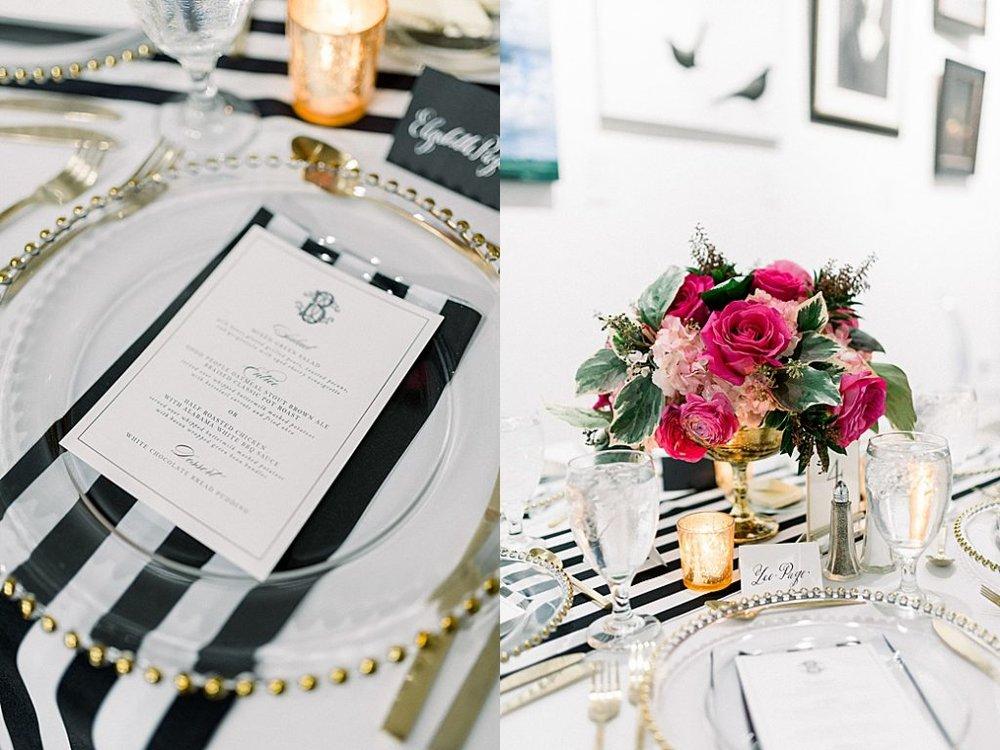 REHEARSAL DINNER MENUS + PLACE CARDS | PHOTOS BY ERIC & JAMIE PHOTO