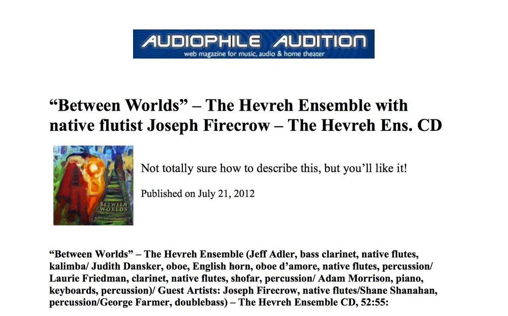 Audiophile Audition - CD Review, July 2012