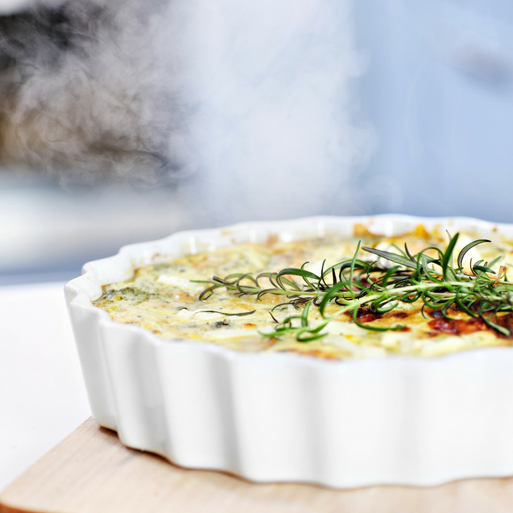 Leek & Goat Cheese Quiche -