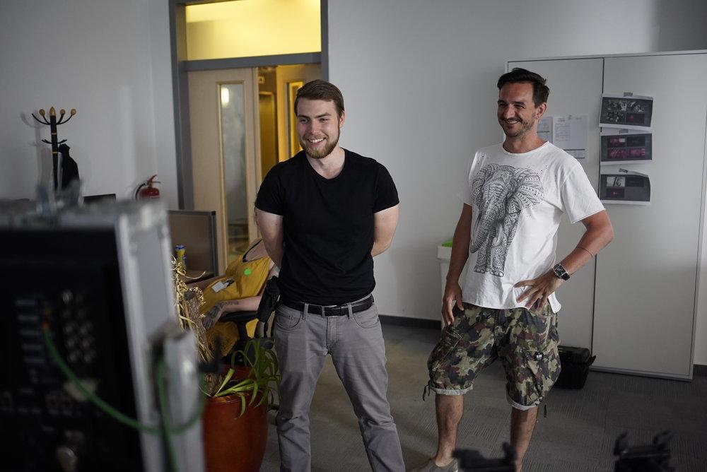 Natáčení videospotu pro T-Mobile v produkci Histogram Films a Proboston Creative.