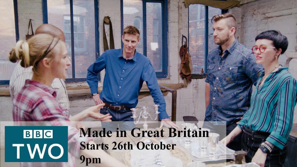 "BBC 2Made in Great Britain - Katie Ventress takes part in 6 part TV series on BBC2.""Made in Great Britain"" looks at the history of the craft industry in Britain throughout the centuries.2018"